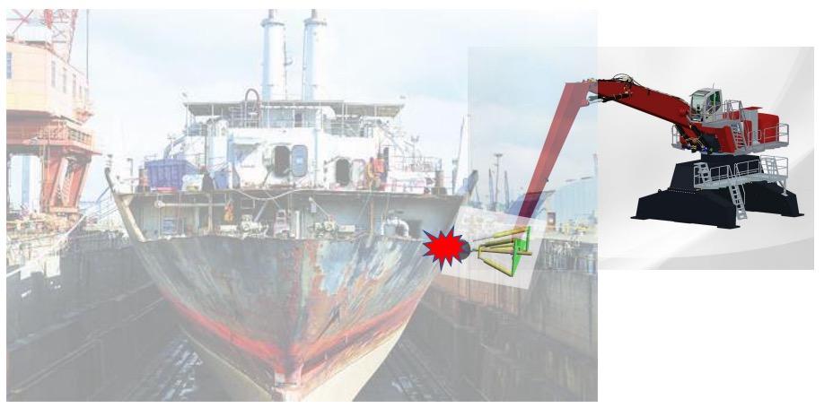 Robotic tool and crane combination